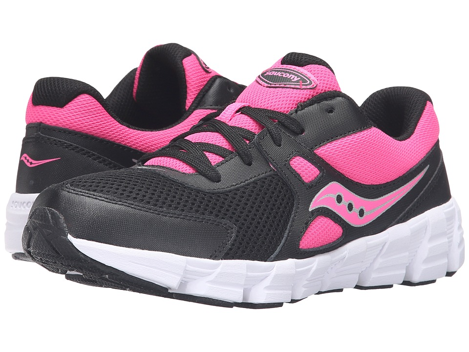 Saucony Kids - Vortex (Big Kid) (Black/Pink) Girls Shoes