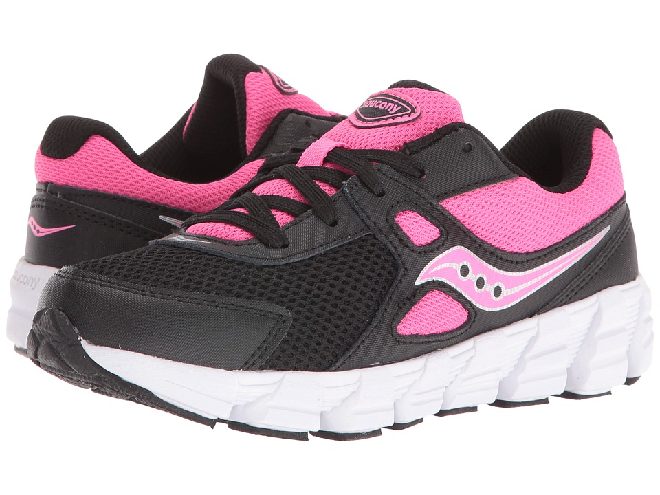 Saucony Kids Vortex (Little Kid) (Black/Pink) Girls Shoes