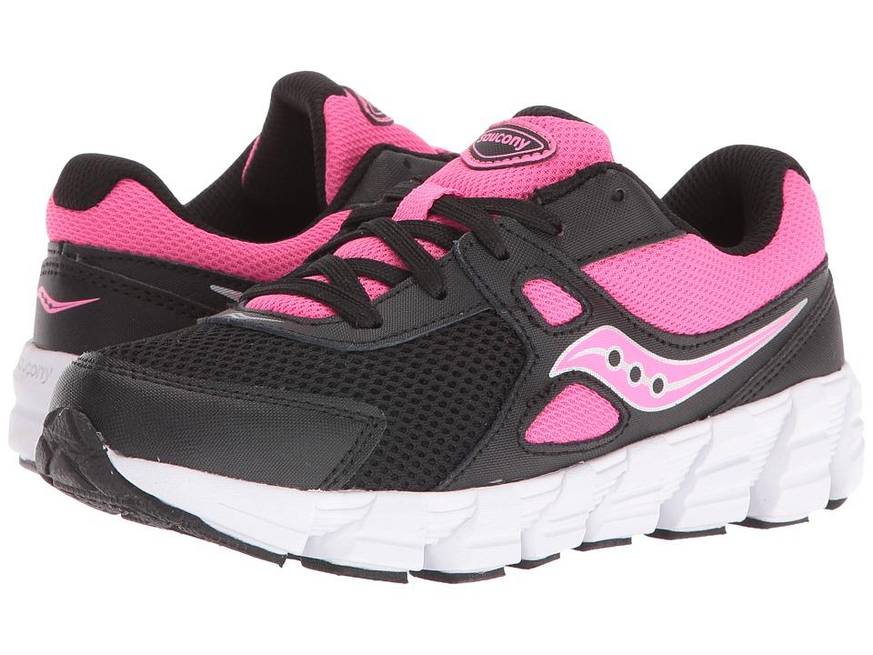 Saucony Kids Vortex (Little Kid) (Black/Pink) Girls Shoes