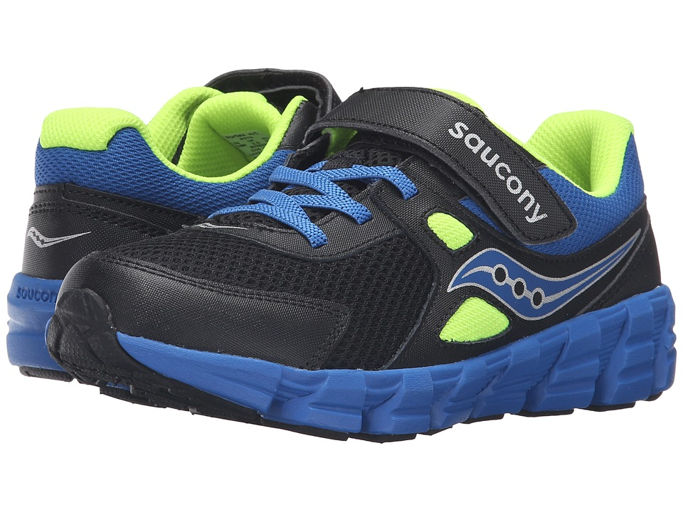 Saucony Kids - Vortex A/C (Big Kid) (Black/Blue/Citron) Boys Shoes
