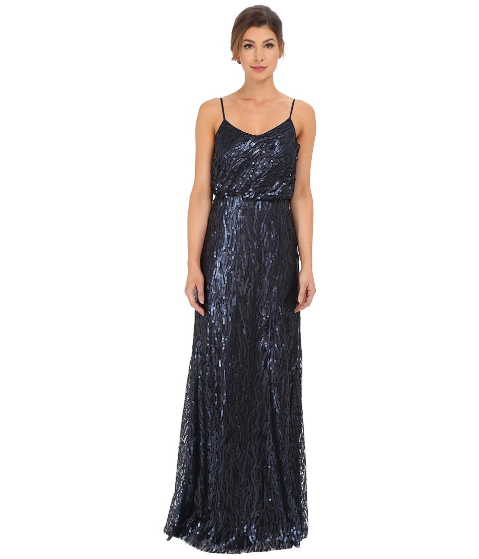 Donna Morgan - Courtney - Spaghetti Blouson (Midnight) Women's Dress