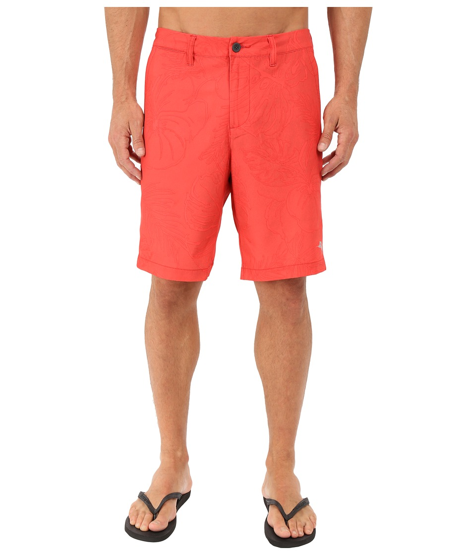 Tommy Bahama - Cayman Fairweather Fronds 9-inch Swim Trunk (Red Cherry) Men's Swimwear
