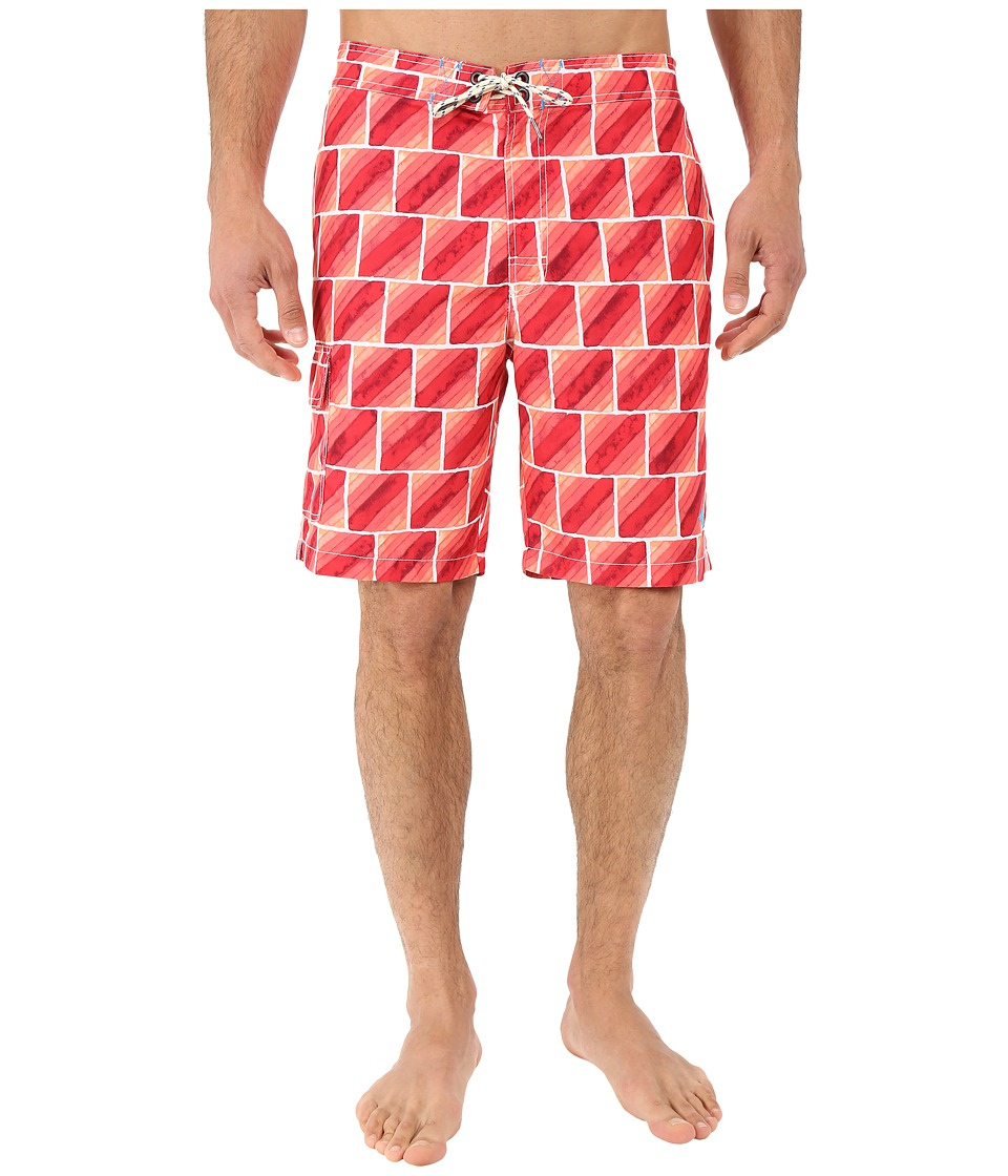 Tommy Bahama - Baja Hit the Bricks Swim Trunk (Melon Sorbet) Men's Swimwear