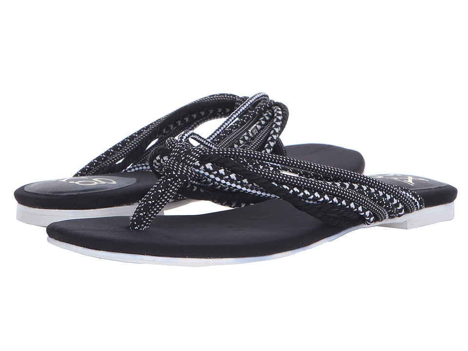 GX By Gwen Stefani - Rooney (Black/White Ropes) Women's Sandals
