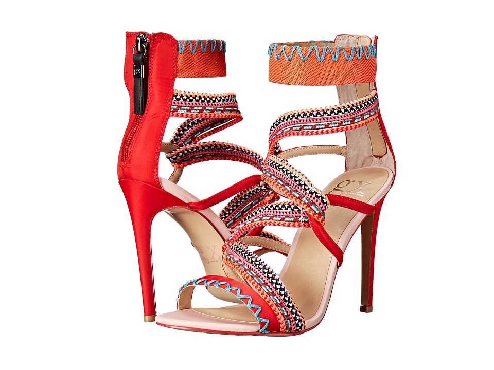 GX By Gwen Stefani - Rhonda (Red/Orange Fabric/Ropes) High Heels