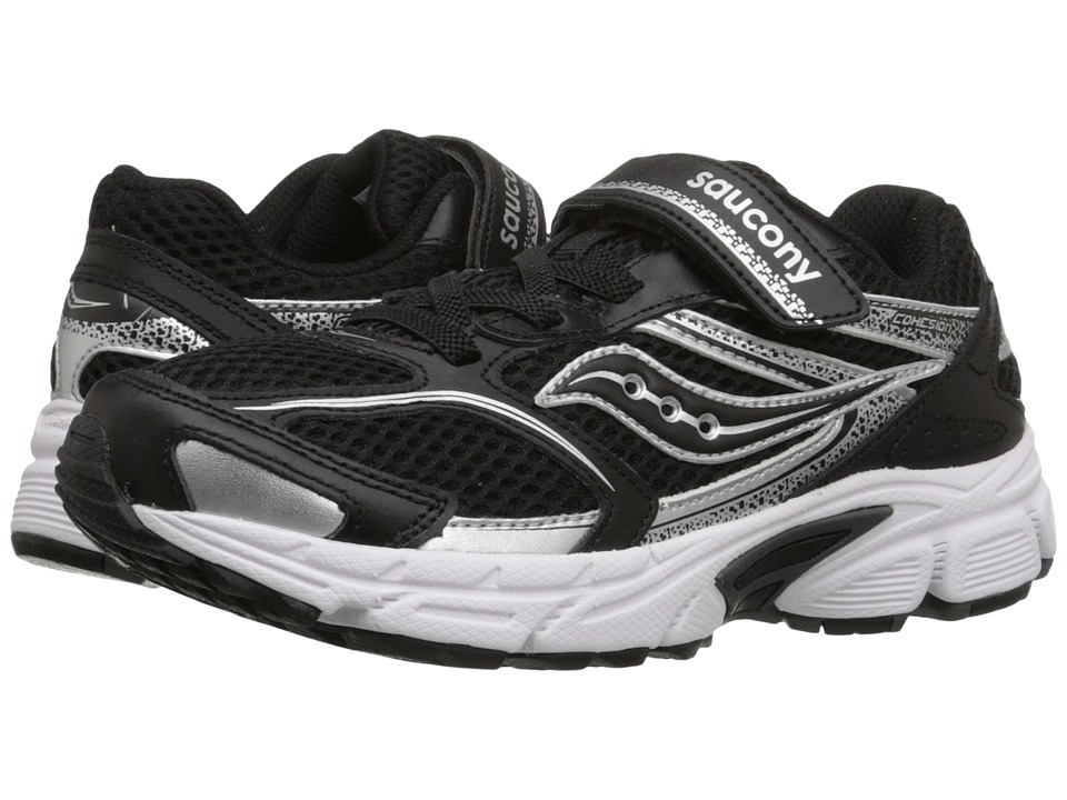 Saucony Kids - Cohesion 9 A/C (Big Kid) (Black/White) Boys Shoes