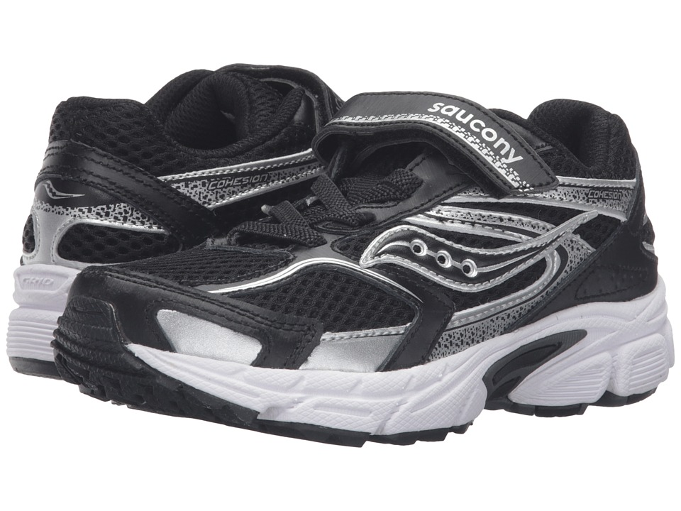 Saucony Kids - Cohesion 9 A/C (Little Kid) (Black/White) Boys Shoes