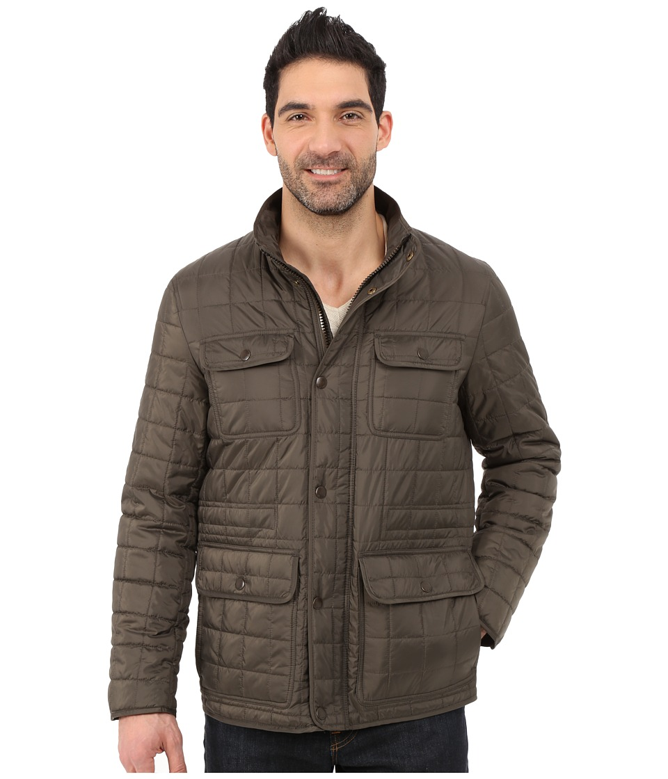 Tommy Hilfiger - Four-Pocket Box Quilted Filed Jacket (Olive) Men's Coat