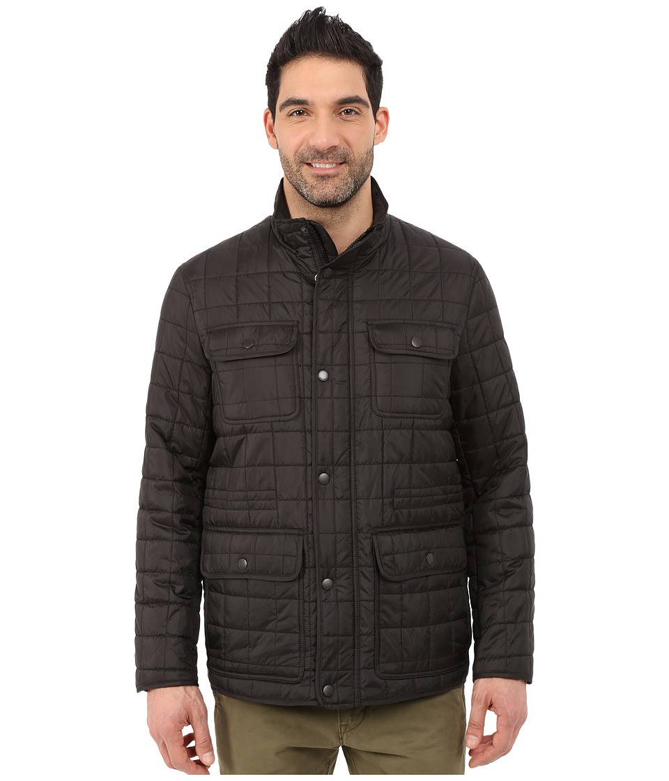 Tommy Hilfiger - Four-Pocket Box Quilted Filed Jacket (Black) Men's Coat