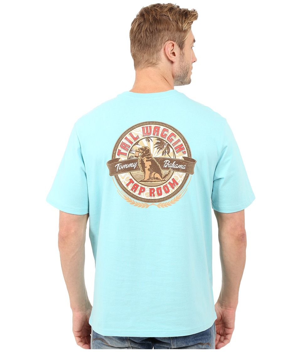 Tommy Bahama - Tail Waggin' Tap Room T-Shirt (Hummingbird) Men's Clothing