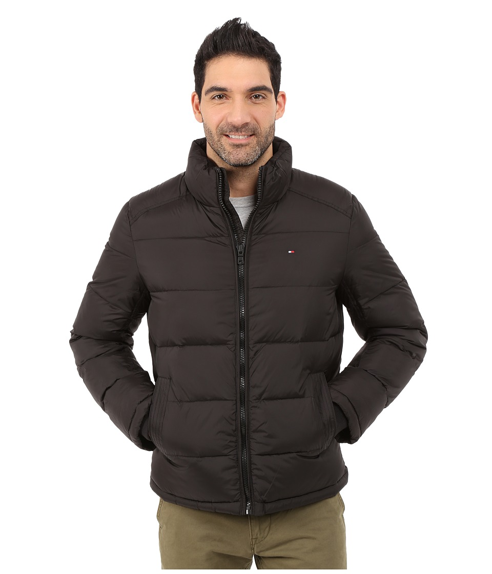 Tommy Hilfiger - Classic Zip Front Puffer (Black) Men