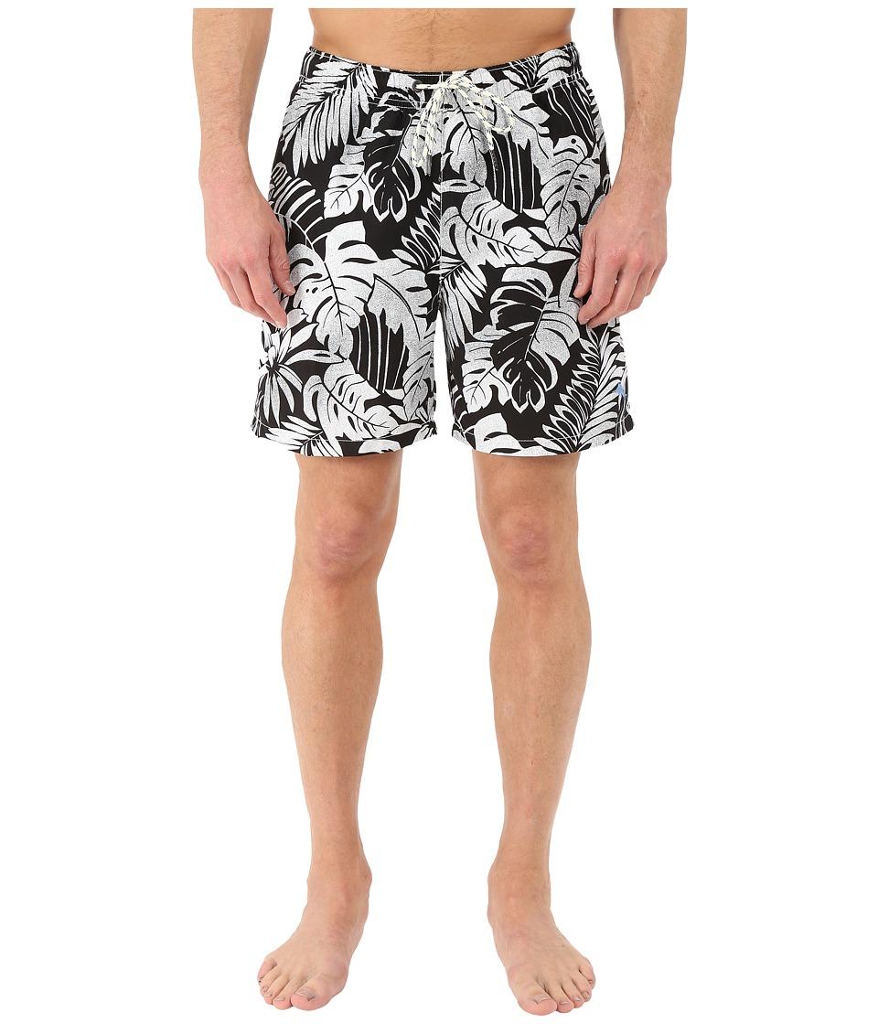 Tommy Bahama - Naples Painterly Palm 6 Swim Trunk (Black) Men's Swimwear