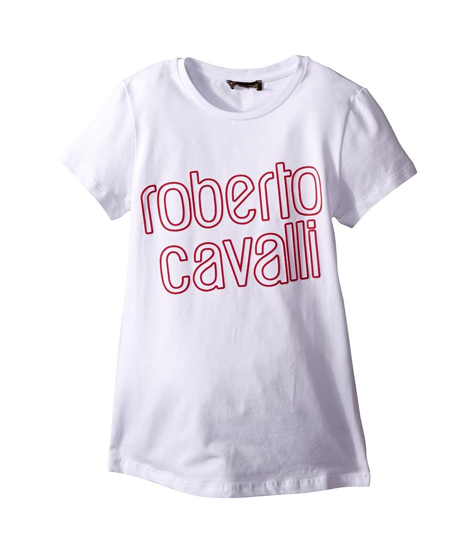 Roberto Cavalli Kids - T-Shirt w/ Design (Big Kids) (White) Girl's T Shirt