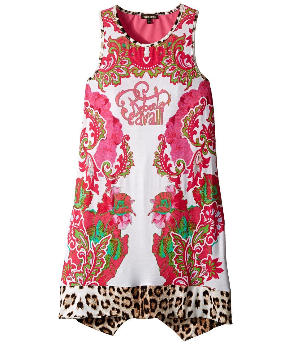 Roberto Cavalli Kids - Multi Print Tank Dress (Big Kids) (White/Multi) Girl's Dress