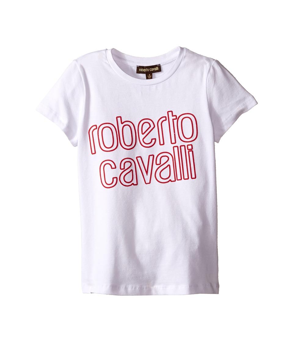 Roberto Cavalli Kids - T-Shirt w/ Design (Toddler/Little Kids) (White) Girl's T Shirt