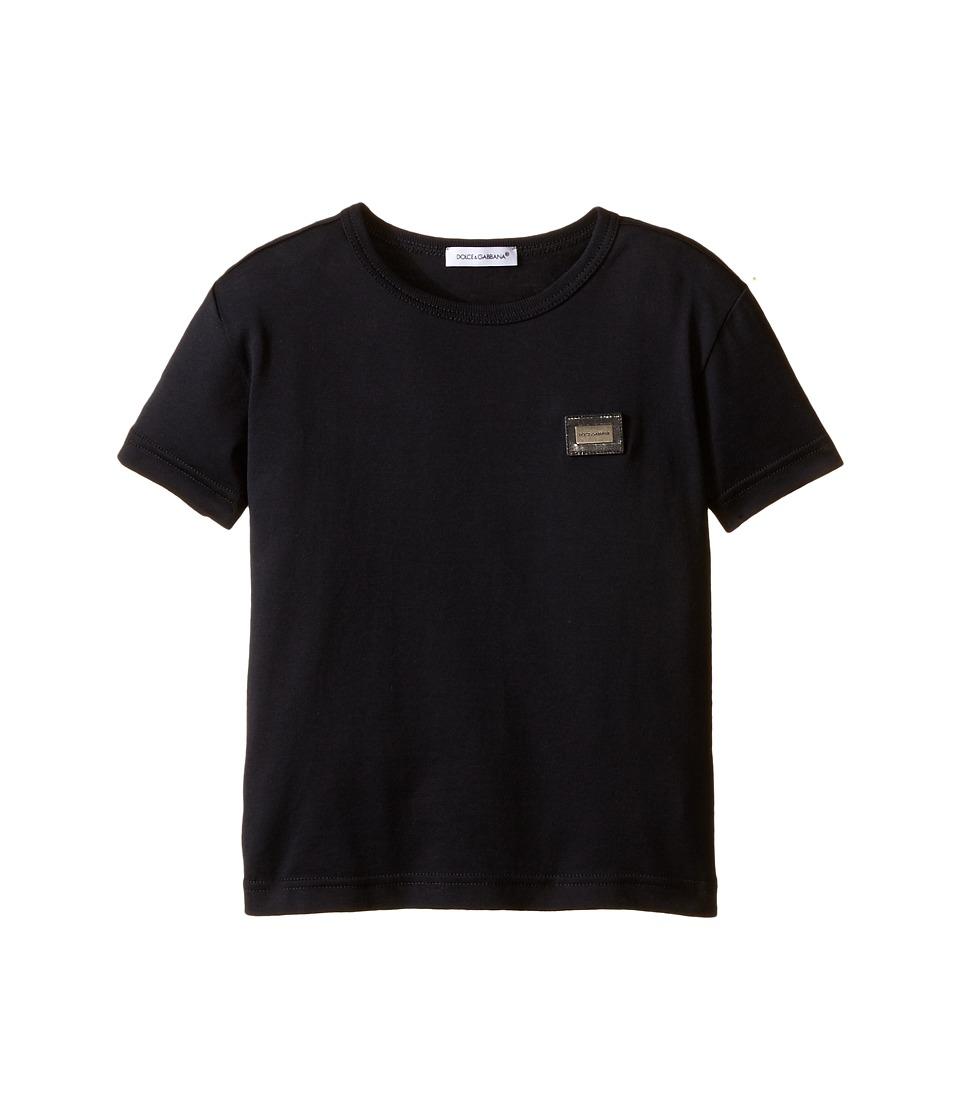 Dolce & Gabbana Kids - Logo T-Shirt (Toddler/Little Kids) (Dark Blue) Boy's Short Sleeve Pullover