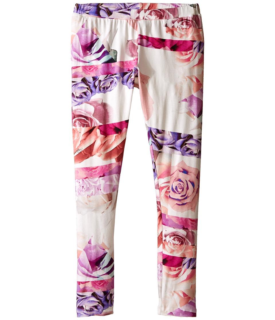 Roberto Cavalli Kids - All Over Print Leggings (Big Kids) (Rose Print) Girl's Casual Pants