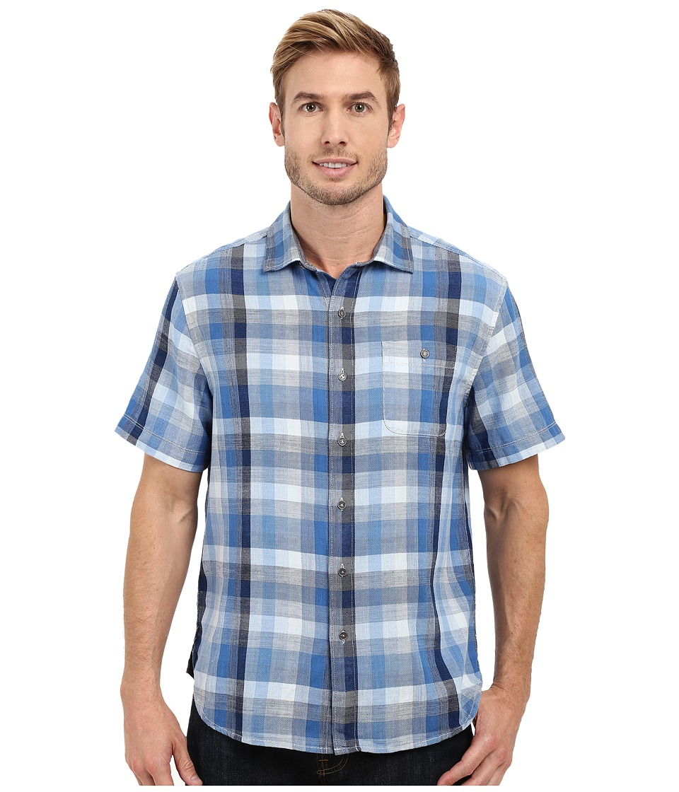 Tommy Bahama - Plaid De La Mer Woven Shirt (Bright Cobalt) Men's Short Sleeve Button Up