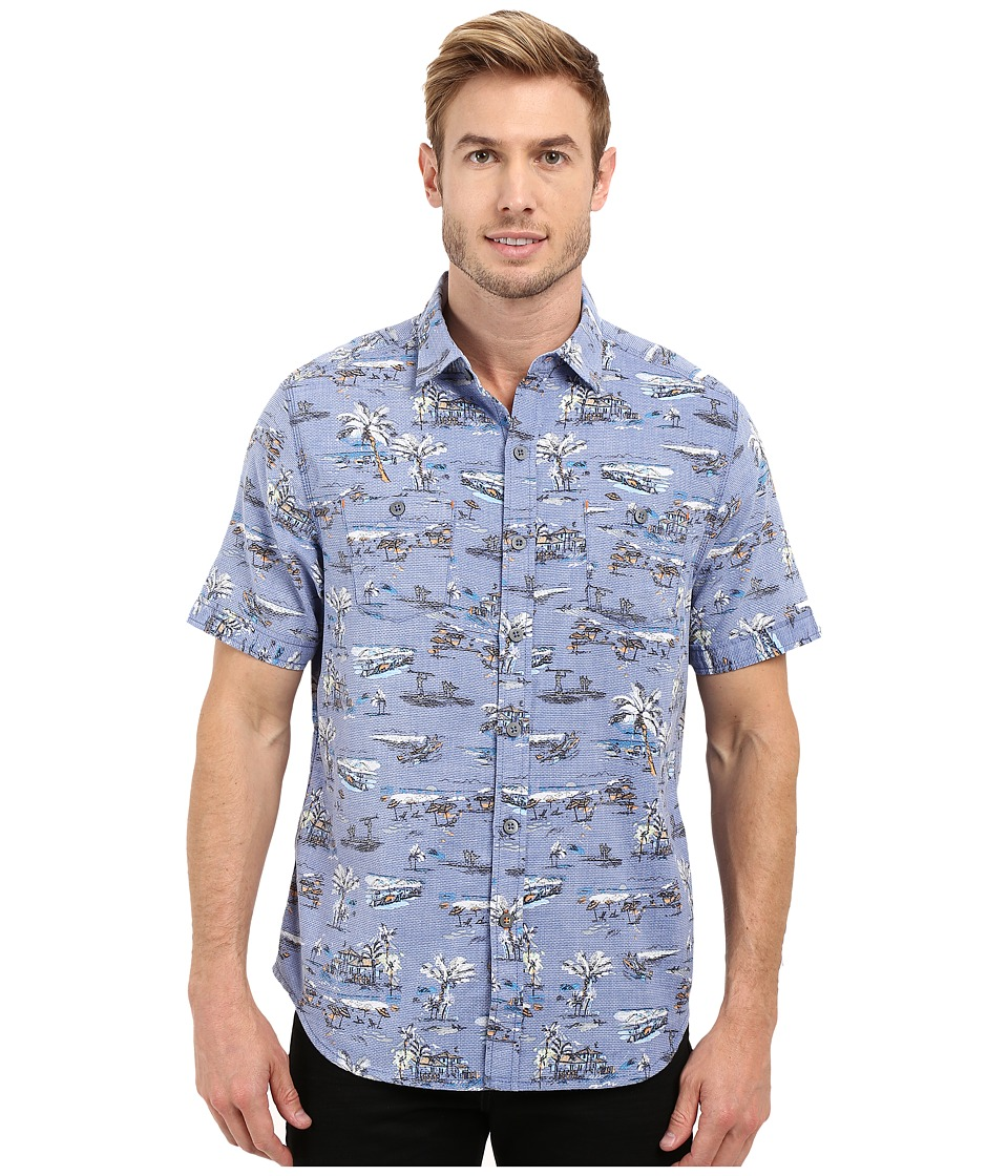 Tommy Bahama - Retro Bungalow Cruis Woven Shirt (Dockside Blue) Men's Short Sleeve Button Up