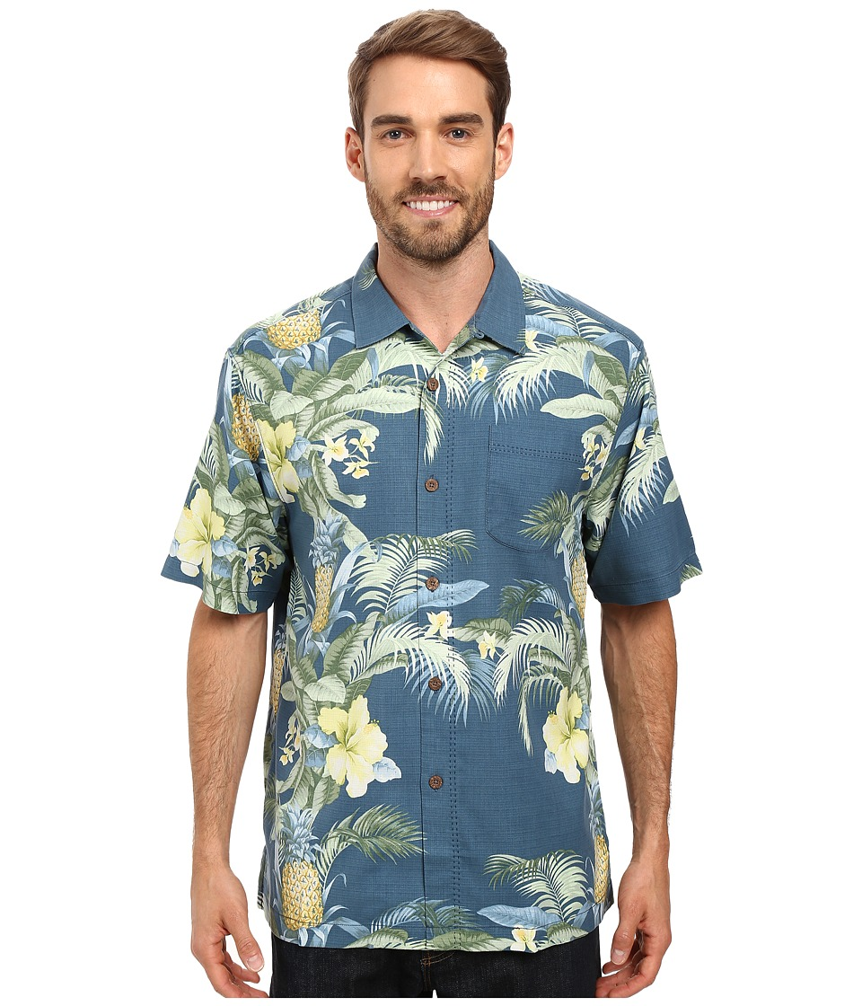 Tommy Bahama - Shut the Frond Door Woven Shirt (Waterfront) Men's Short Sleeve Button Up