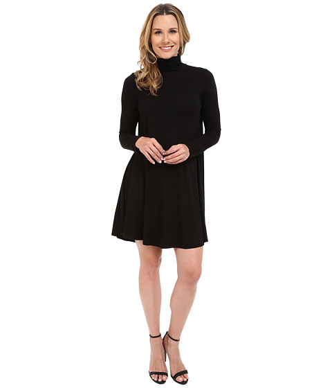 Karen Kane - Turtleneck Swing Dress (Black) Women's Dress