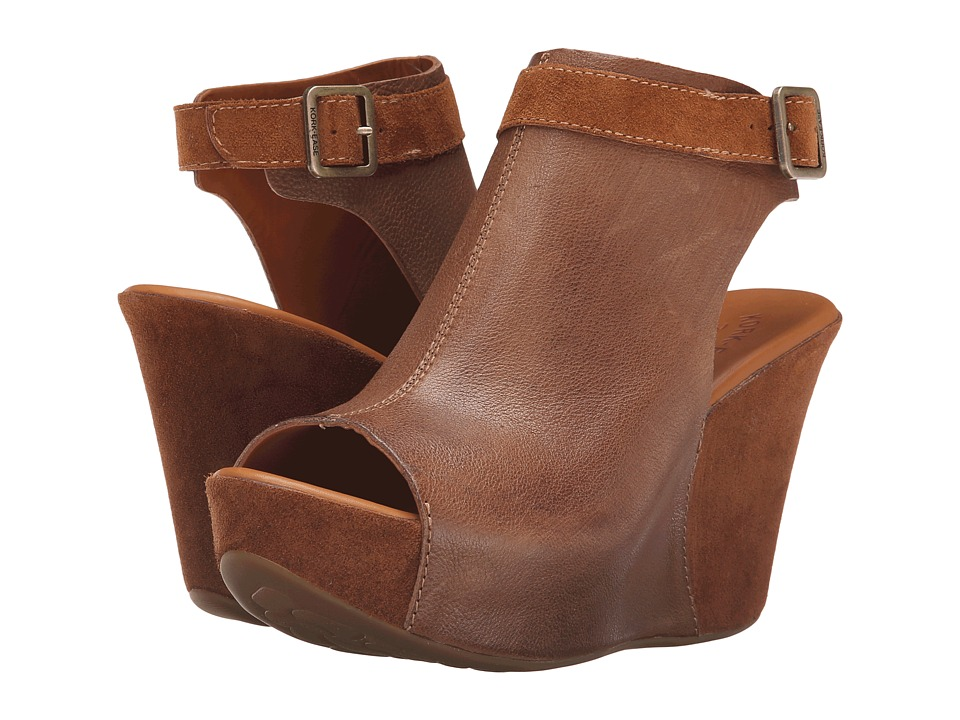 Kork-Ease - Berit (Tan Combo) Women's Wedge Shoes