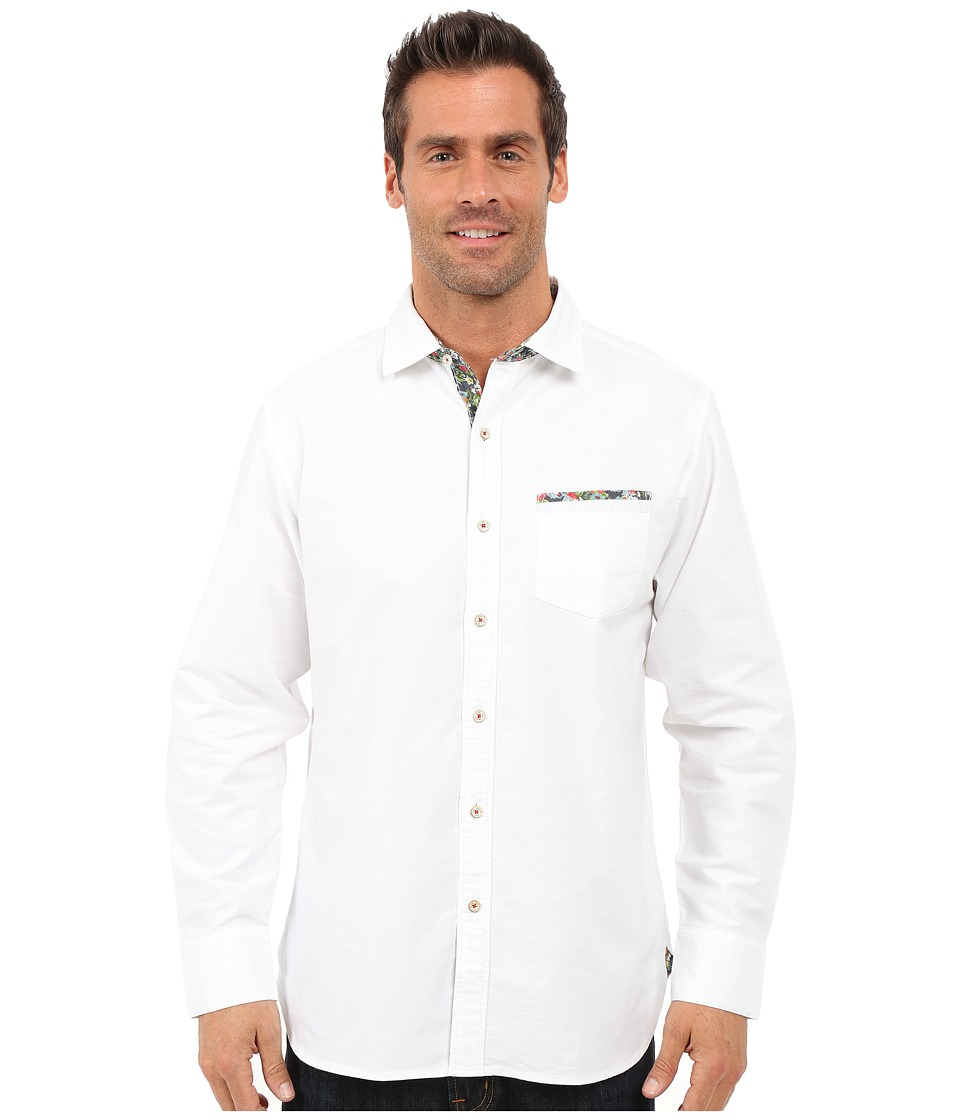 Tommy Bahama - Tropic of Oxford Woven Shirt (White) Men's Clothing