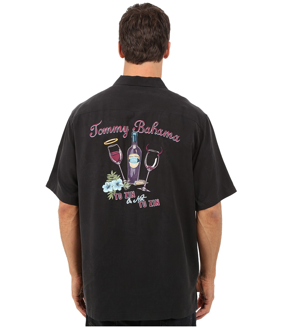 Tommy Bahama - To Zin or Not to Zin Camp Shirt (Black) Men's Clothing