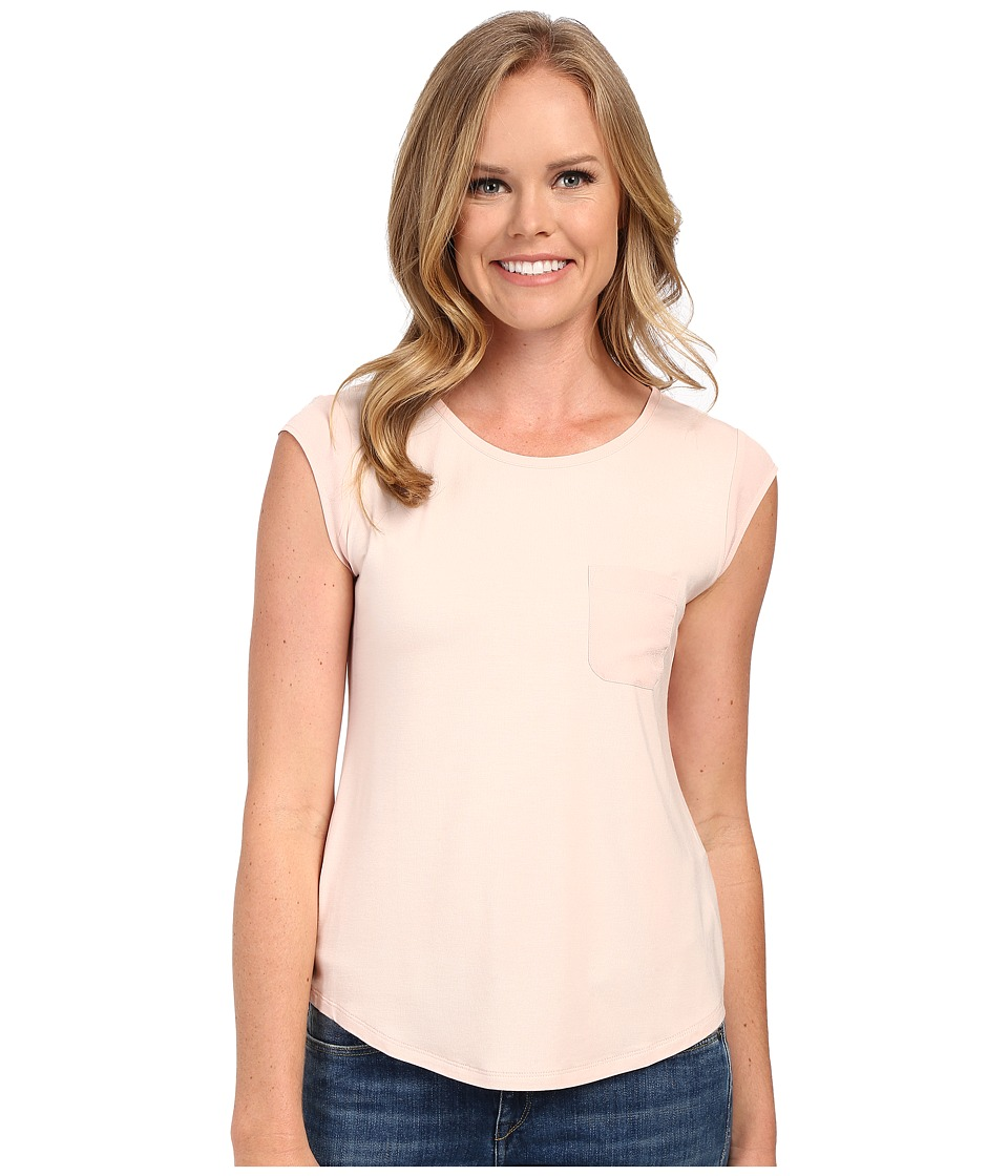 Calvin Klein - T-Shirt w/ One-Pocket (Blush) Women