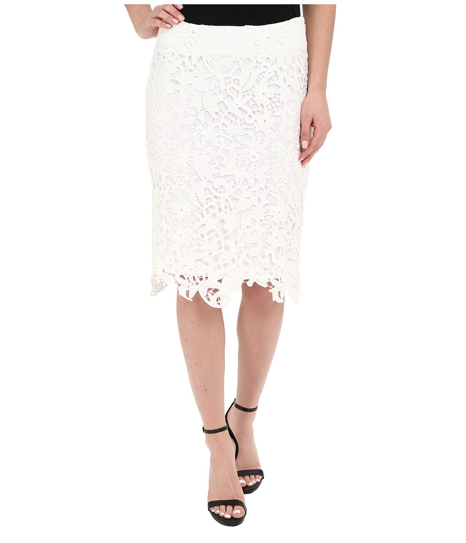 Calvin Klein - Lace Pencil Skirt (Soft White) Women's Skirt