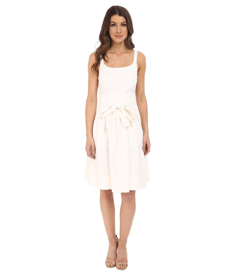 Calvin Klein - Tank Dress w/ Bow Belt (Soft White) Women's Dress