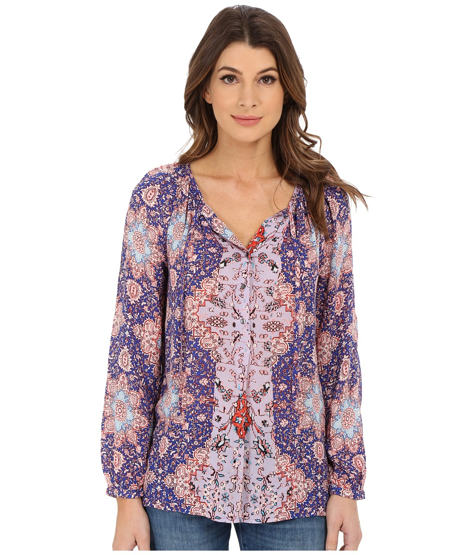 Lucky Brand - Tile Print Top (Purple Multi) Women's Long Sleeve Pullover