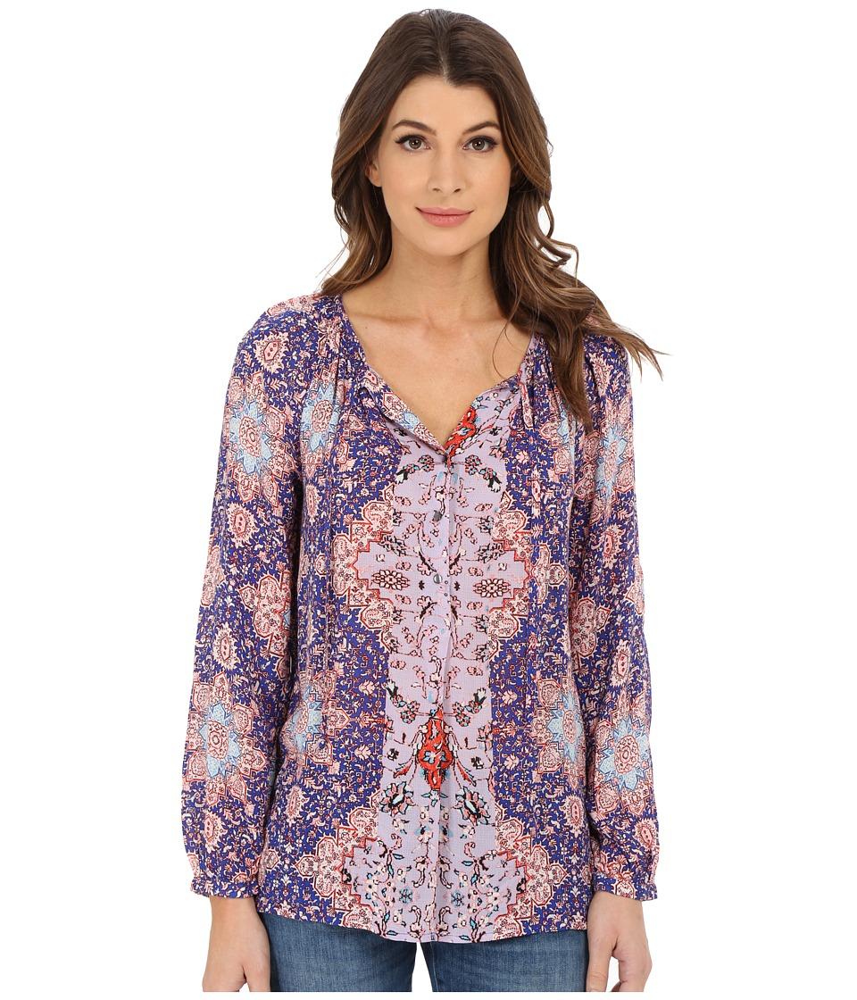 Lucky Brand - Tile Print Top (Purple Multi) Women's Long Sleeve Pullover