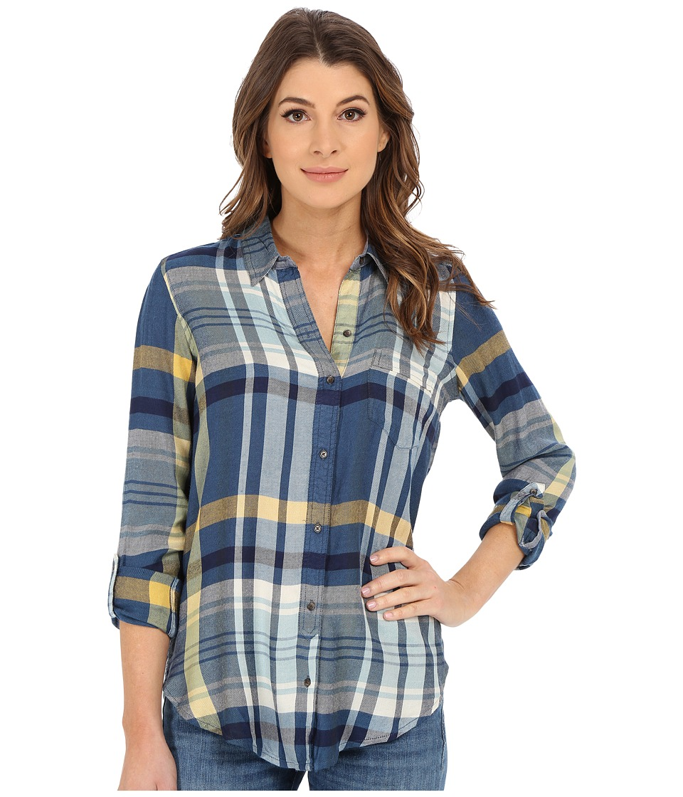 Lucky Brand - Plaid Shirt (Blue Multi) Women's Long Sleeve Button Up