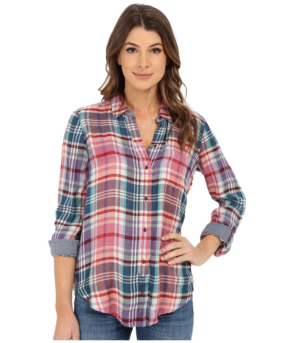 Lucky Brand - Plaid Shirt (Purple Multi) Women's Long Sleeve Button Up
