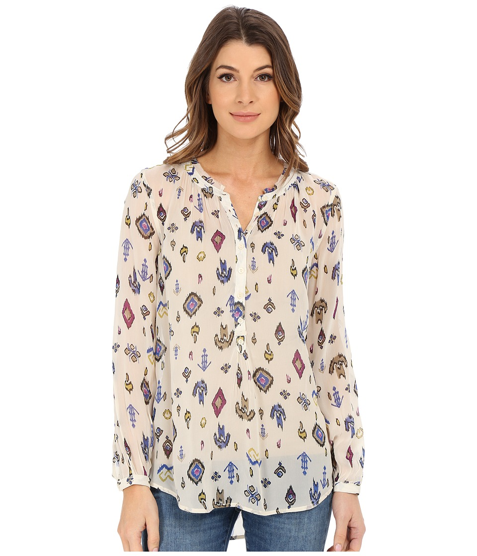 Lucky Brand - Ikat Print Top (Natural Multi) Women's Blouse