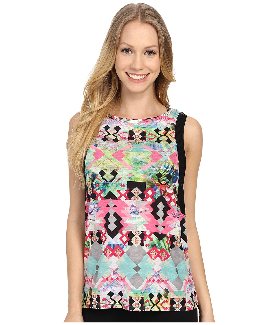 Pink Lotus - Hawaii Tribe Refreshed Contrast Muscle Tank Top (Passion Fruit) Women's Sleeveless