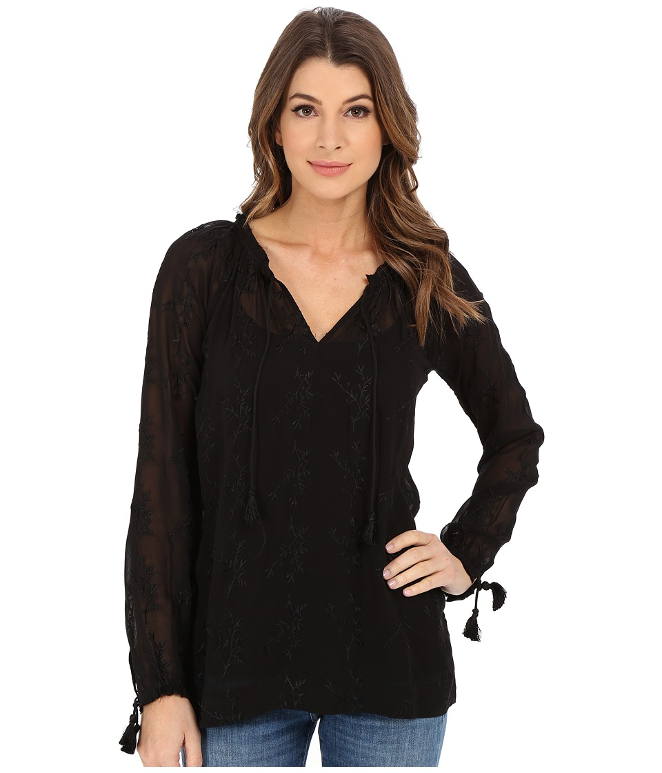 Lucky Brand - Embroidered Top (Lucky Black) Women's Blouse