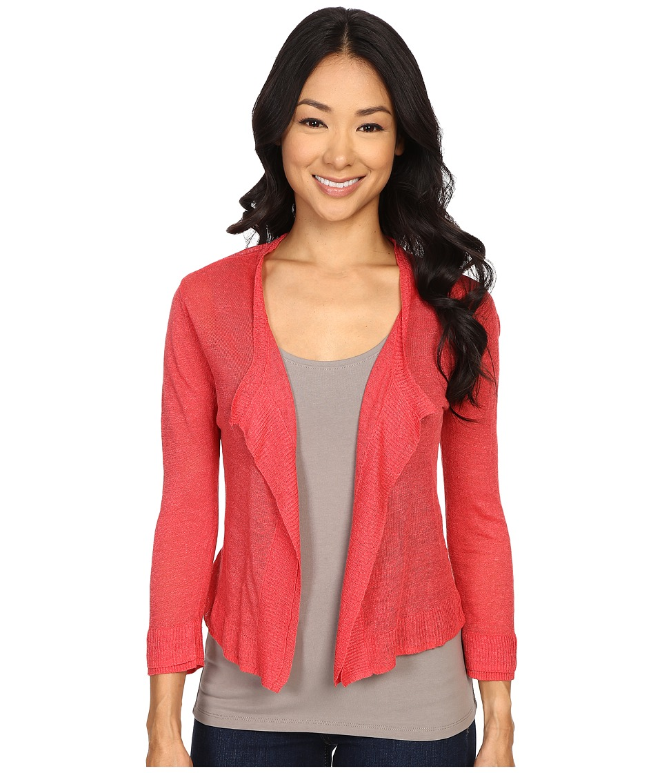 NIC+ZOE - Double Trim Cardy (Spiced Rose) Women's Sweater