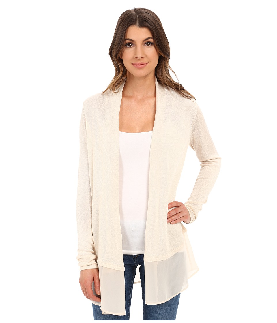 NIC+ZOE - Chiffon Trim Cardy (Sandshell) Women's Sweater