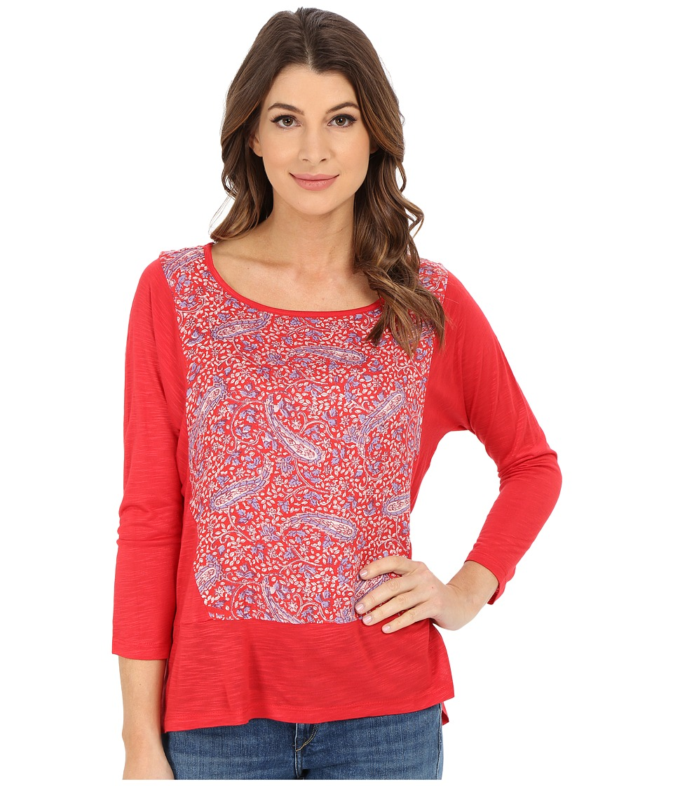 Lucky Brand - Paisely Printed Top (Floral Paisley) Women