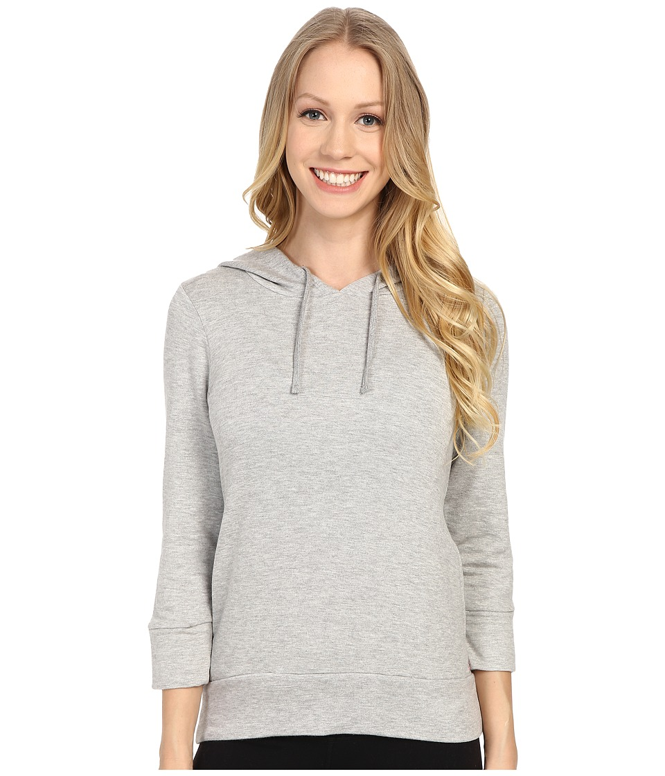Pink Lotus - Onshore Waves Prepare Long Sleeve Hooded Jacket (Heather Grey) Women's Sweatshirt