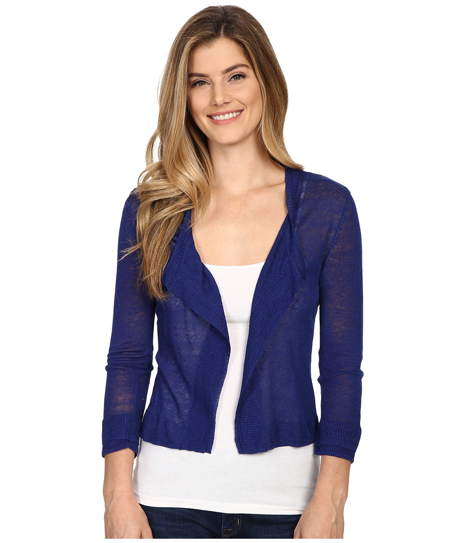 NIC+ZOE - Double Trim Cardy (Blue Roma) Women's Sweater