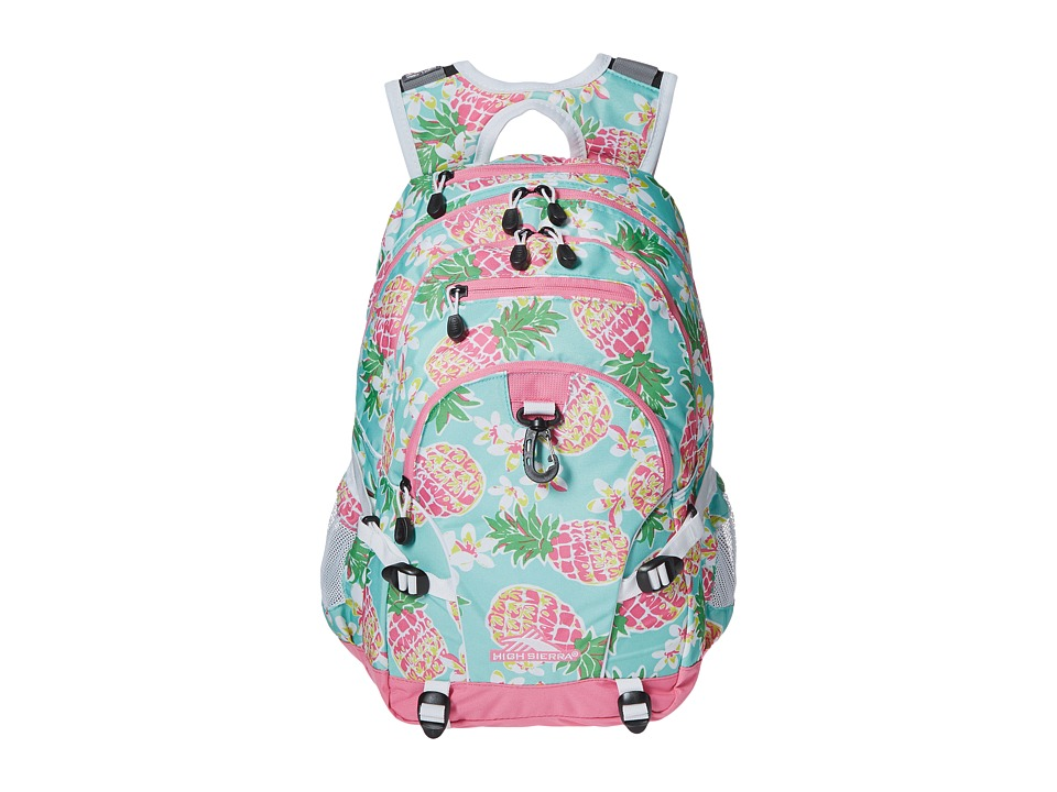 High Sierra - Loop Backpack (Pineapple Party/Pink Lemonade/White) Backpack Bags