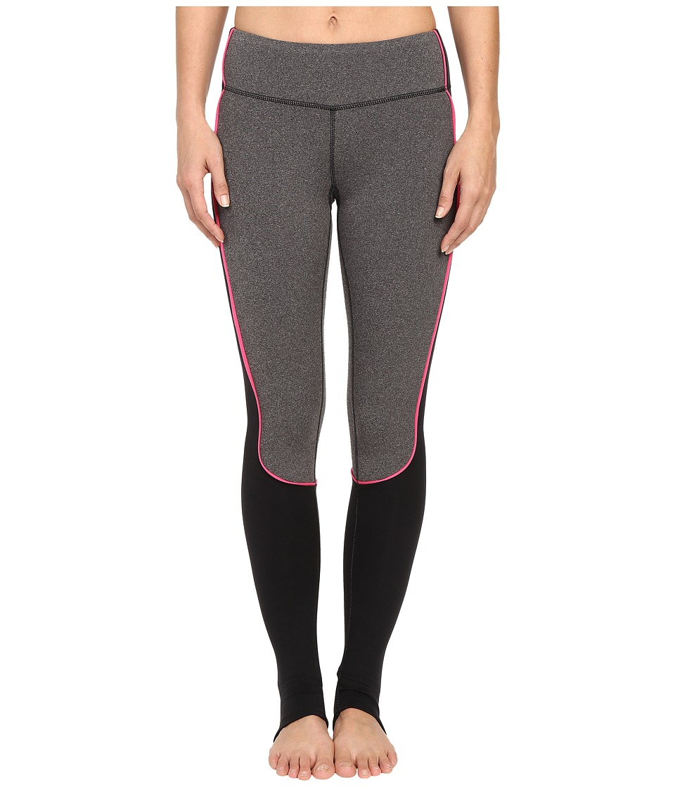 Pink Lotus - Solar Rays Forward Leggings Lotus Tech Luxe Barre Pants (Heather Grey) Women