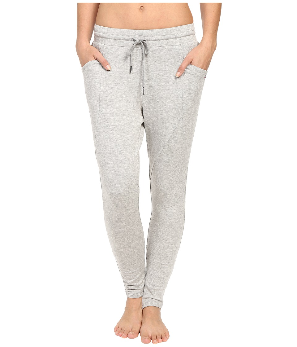 Pink Lotus - Onshore Waves Process Dropped Crotch Lounge Pants w/ Pockets (Heather Grey) Women's Casual Pants