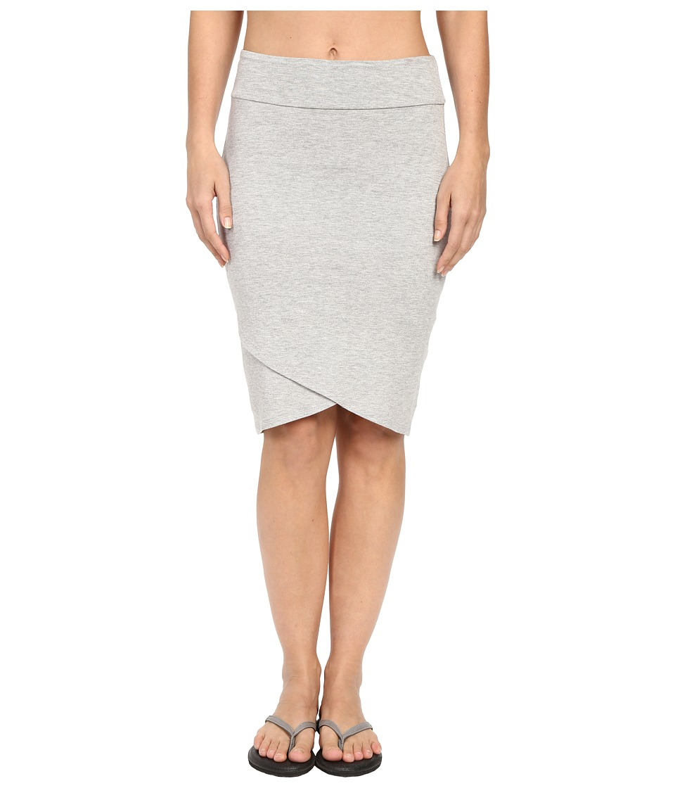 Pink Lotus - Onshore Waves Practice Tulip Lounge Skirt (Heather Grey) Women's Skirt