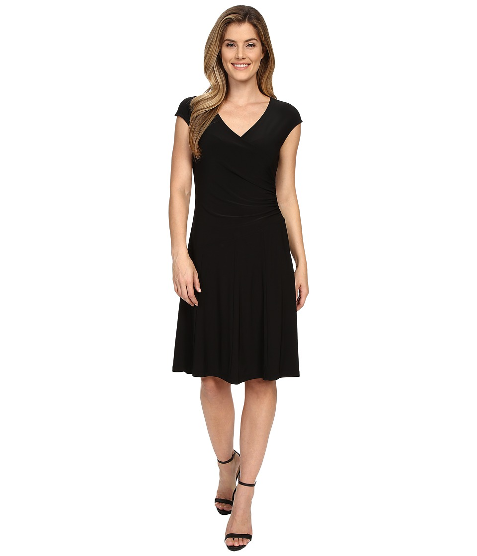 NIC+ZOE - Wrap Dress (Black Onyx) Women's Dress