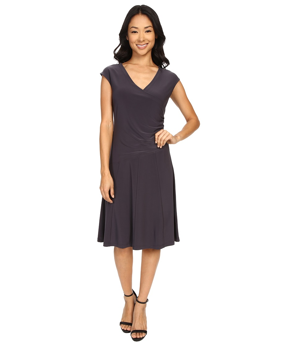 NIC+ZOE Wrap Dress (Phantom) Women