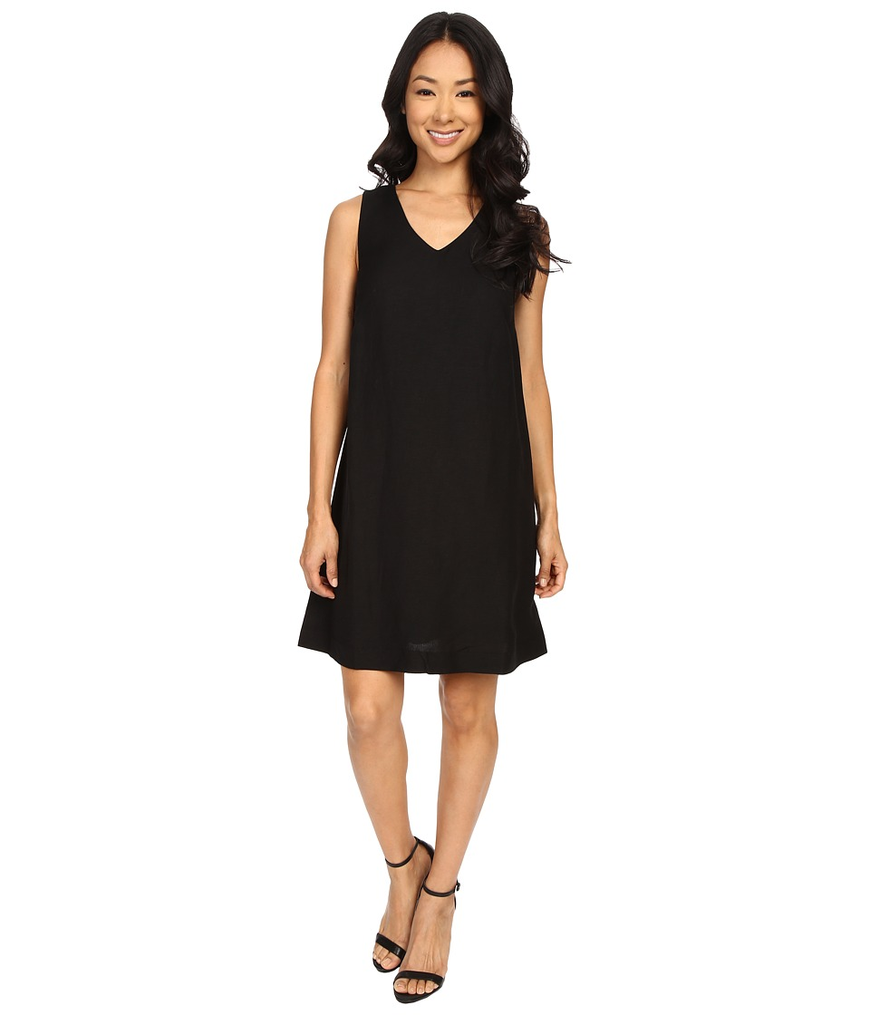NIC+ZOE Every Day Linen Dress (Black Onyx) Women